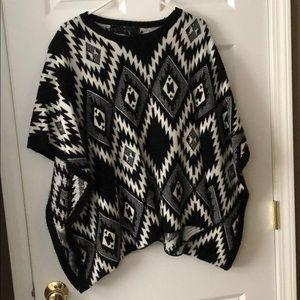 Open sleeve sweater/shrug